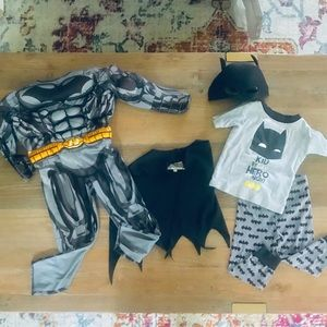 3T Batman Costume and Pajama Bundle Set